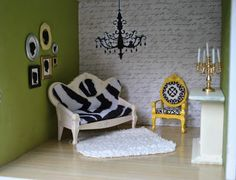 dollhouse rooms   HeyDay Living: Extreme Home Makeover- Dollhouse Edition