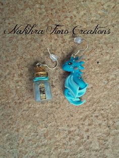 Pendant earrings with water dragon and bottled sea breeze | Flickr