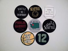 Seattle Magnets - City of Seattle Washington - City Pride Magnets - 8 Designs City Pride, Seattle Homes, Seattle Washington, Magnets, Ebay, Design
