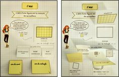 Maths Area, Area And Perimeter, Cycle 3, Montessori Math, Interactive Notebooks, Fractions, Classroom, School, Arabesque