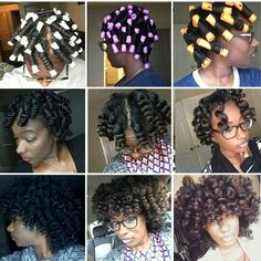 Different rod sizes on natural hair