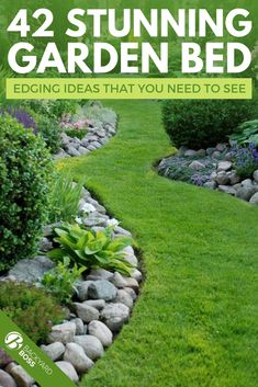 If you are anything like me, when you see empty yard space, you see the garden potential. And depending on what your plans are concerning flower, stone, or vegetable garden beds, you probably have a preliminary idea of how you want your garden edging to look once it's finished. #ideas #stone #stone #wood