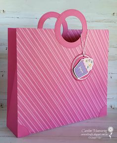 Stampin' Up! How Sweet It Is Gift Bag. Inspired by Linda Parker of Papercraft With Crafty.
