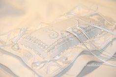 cuscino portafedi per il matrimonio di mia figlia