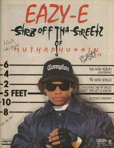 Eazy e Best of Oldschool Rap Rest in peace Eazy <3 We will always miss u but you aint gone songs never die <3