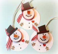 Snowman Tea Light Ornaments