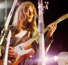 David Gilmour of Pink Floyd, Paris 1970