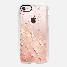 Pastel Rose Gold Rain (transparent) - Classic Grip Case