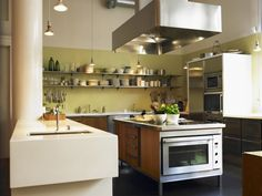 Complement sleek stainless steel appliances in the kitchen with a chic color such as Pratt & Lambert Lush Avocado CL055.
