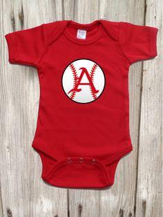 Razorback  Baseball Bodysuit for Baby Boy by IsaacOriginalDesigns on Etsy