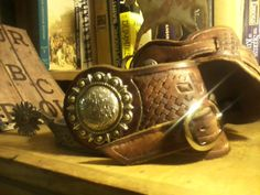 I made these buckaroo style spur straps for my brother Wil. In Melba Idaho.