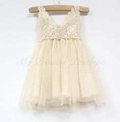 Baby girls  flower lace tutu princess dress - Perfect for christening, party, flower girl, birthday girl..