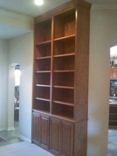 Bookcase cabinetry.