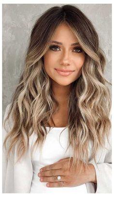 Blonde Hair With Highlights, Brown Blonde Hair, Hair Color Balayage, Light Brown Hair, Brown Hair With Blonde Balayage, Light Brunette Hair, Balayage Hair Brunette With Blonde, Balayage Straight, Baylage