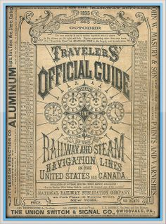 1895 Travellers Official Guide Railway & Steam Navigation Lines of the US and Canada