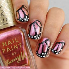 Nails By Kizzy: Butterfly Nails! #glamnailschallengeaug
