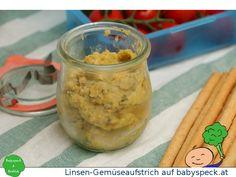 Linsen-Gemüseaufstrich - veganer Brotaufstrich für Babys ab 6 Monaten, perfekt für Baby led weaning