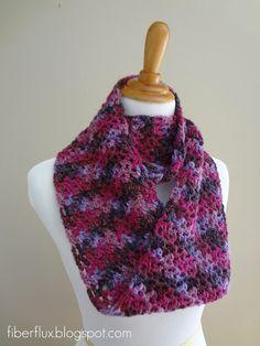 Fiber Flux...Adventures in Stitching: Free Crochet Pattern...Gelato Infinity Scarf