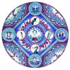 Aquarius Astrology Mandala Art Card blank by LindyLonghurst