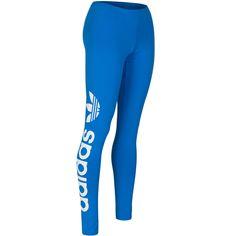 adidas Originals Women's Logo Print Long Leggings 12US Blue