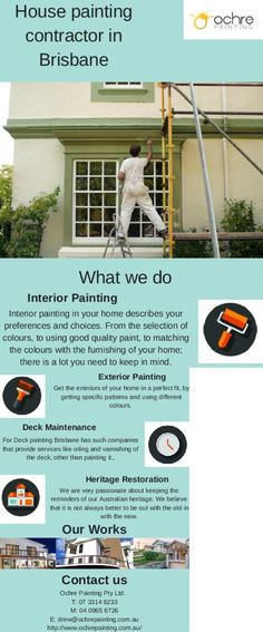 Call Ochre Painting expert interior house painters in Brisbane for reliable and low-cost painting of your house.
