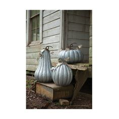 Kalalou Galvanized Pumpkin (£110) ❤ liked on Polyvore featuring home, outdoors, outdoor decor, outdoor garden decor, rustic outdoor decor, rustic garden decor, metal garden decor and outside garden decor