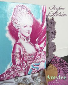 "The Queen Marie Antoinette ""pop style"". Painting (Archives 2006) © Amylee Paris www.amylee.fr"