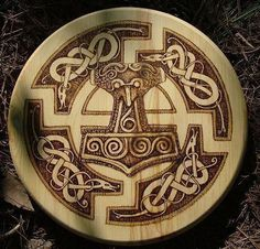 Carved Mjölnir