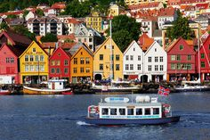 BRYGGEN, NORWAY:  This unique series of commercial buildings that line the eastern side of a Norwegian fjord is famed for its historic and cultural importance. It was declared a World Heritage Site in 1979.