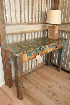 Reclaimed Wood Furniture by www.LongwoodAntiqueWoods.com