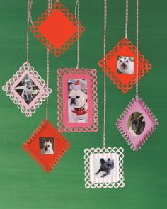 Frame your favorite four-legged friends with these easy to make ornaments! Martha Stewart Crafts Paper Punches make perfect borders for any craft! #marthastewartcrafts