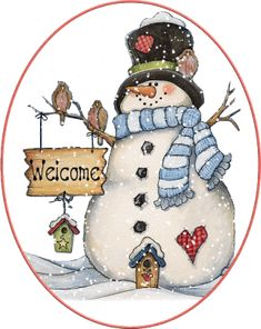 SNOWMAN WELCOME GIF