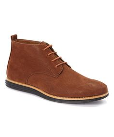 Take a look at this Dark Brown Hi-Top Chukka Boot on zulily today!