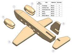 Passenger plane kids toy plan - Parts list