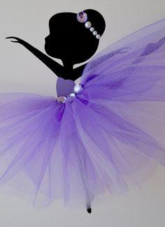 Lienzos de Tutu. Arte de pared de bailarina. Vivero púrpura