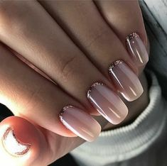 58 Most Gorgeous and Cute ♥ Light Nails Ideas for Winter and Spring Life - Diaror Diary - Page 30 ♡♥ 𝕴𝖋 𝖀 𝕷𝖎𝖐𝖊, 𝕱𝖔𝖑𝖑𝖔𝖜 𝖀𝖘! ♥♡ ♥ ♥ ♥ ♥ ♥ ♥ ♥ ♥ ♥ ♥ ღ♥Hope you like this collection gorgeous light nails design! Pale Pink Nails, Nude Nails, Gel Nails, Gold Manicure, Nail Polish, Matte Nails, Coffin Nails, Nail Designs Spring, Cute Nail Designs