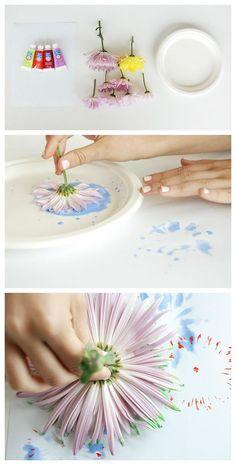 DIY flower heads art, spring is here!