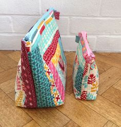 Pink Stitches: quilt as you go tutorial for zippered pouches