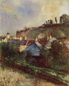 Edgar Degas - Houses at the foot of a cliff