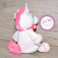 Peluche Personalizado Cubbie Unicornio Trasera Dedicatoria