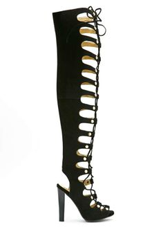 Jeffrey Campbell black lace up heels.