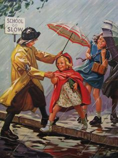School Go Slow Hintermeister Calendar Art by RedfordRetro on Etsy, $30.00