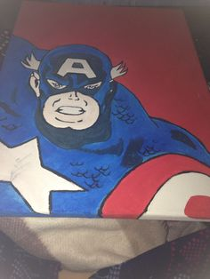 Captain America Canvas completed !