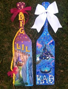 Kappa Alpha Theta. Big and Little paddles for each other. Still my favorite! love tangled
