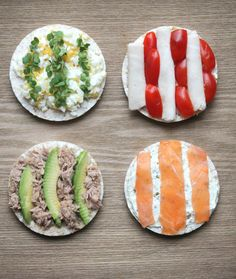 Rice Cakes with Healthy Toppings - My Fussy Eater