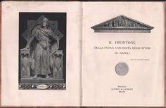 IL FRONTONE DELLA NUOVA UNIVERSITÀ DEGLI STUDI DI NAPOLI-F. JERACE-1911-ILLUSTR.