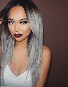 grey ombre hair idea