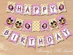 Resultado de imagen para masha and the bear birthday decorations