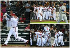 Hit a home run.  Run the bases. Celebrate with teammates.   Freeman blasts a 2 run walk-off bomb to beat the Mets 2-1!