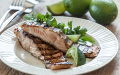 Marinating salmon in yogurt and then cooking it on a covered grill produces tandoori-style salmon with a delightfully silky texture. We recommend marinating… Whole Food Recipes, Great Recipes, Favorite Recipes, Healthy Recipes, Marinated Salmon, Grilled Salmon, Clean Eating, Healthy Eating, Dinner Healthy